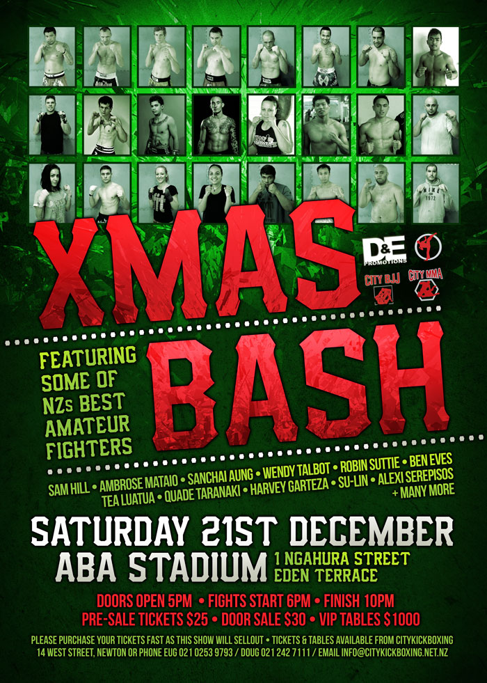 City Kickboxing Xmas Bash - amateur fight night 2013